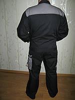 Куртка рабочая  черный + серые вставки