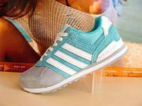 Кроссовки женские Adidas Neo серо-бирюзовые 37 р.