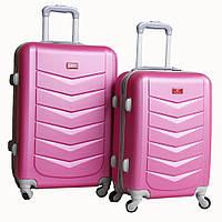 Стильный пластиковый чемодан, 510405