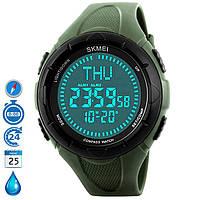 Часы Skmei 1232 с КОМПАСОМ Зеленые водостойкие