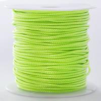 Шнур Вощеный Полиэстер, подходит для плетения браслетов, Цвет: Салатовый, Размер: Толщина 1мм, около 10м/катушка, (УТ0026609)