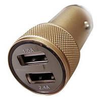 АЗУ 3,4А Автомобильное usb зарядное устройство корпус метал