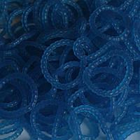 Резинки для плетения Loom Bands синие с пупырышками (жемчужные) 200 шт