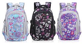 Школьный рюкзак для девочки 2 размера (1-11 класс)  черный