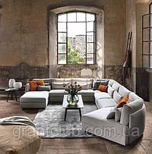 Модульный диван с тонкими подлокотниками SHAN фабрики Swan Italia