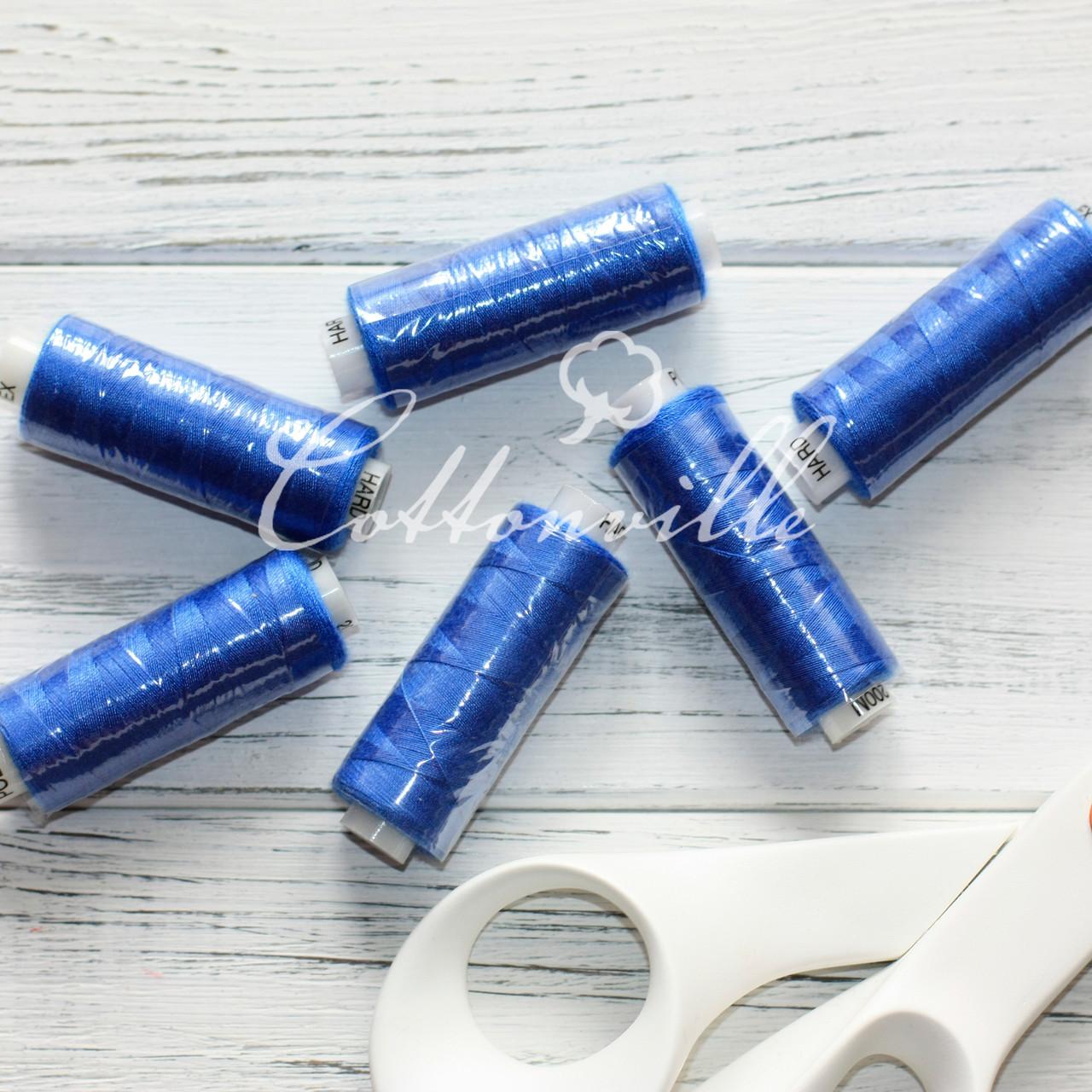 Нитки швейные 40s/2 (200 м) цвет васильково-синий