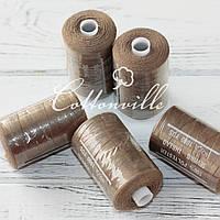 Нитки швейные 40s/2 прочные (1000Y) цвет коричневый