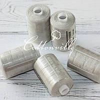 Нитки швейные 40s/2 прочные (1000Y) цвет беж хаки
