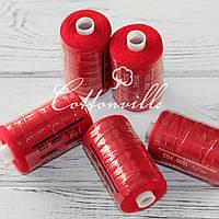 Нитки швейні 40s/2 міцні (1000Y) колір червоний мак