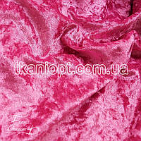 Ткань Бархат мрамор (розовый)