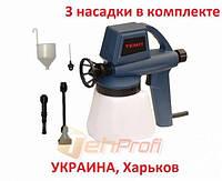 Краскопульт электрический Темп ПК-120 (УКРАИНА, 3 насадки)