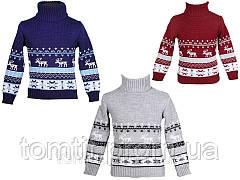 """Детский теплый шерстяной свитер """"Олени"""", для мальчиков, оптом, фото 3"""