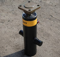 Гидроцилиндр подъема кузова КАМАЗ колхозник (55102-8603010-01) 3-х штоковый