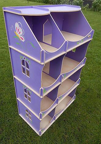 Кукольный домик-шкаф с росписью (сиреневый), фото 2