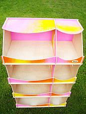 Кукольный домик-шкаф радужный с росписью, фото 3