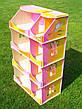 Кукольный домик-шкаф радужный с росписью, фото 2