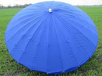 Зонт торговый круглый 2,65 метра дм 24 спиц красный, синий