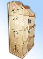 Кукольный домик-шкаф с росписью
