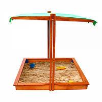 Детская песочница с регулируемой крышей