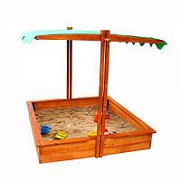 Детская песочница с регулируемой крышей 3