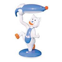 Настольная лампа детская Кот голубой HL 045