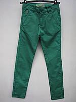 Брюки для мальчиков Чинос цветные коттоновые Зеленые