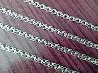Серебряная цепочка - плетение Ручеек