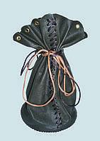 Упаковка в виде мешочков из натуральной кожи для подарков (сувениров)