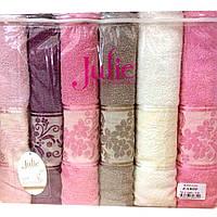 Комплект махровых банных полотенец Zarif Julie 6390