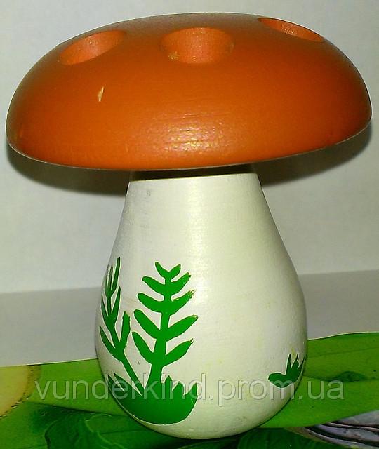 Шнуровка Белый гриб на 6 отверстий с деревянной иголкой