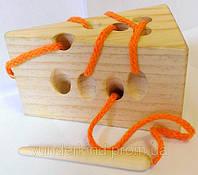 Шнуровка Сыр с деревянной иголкой, фото 1