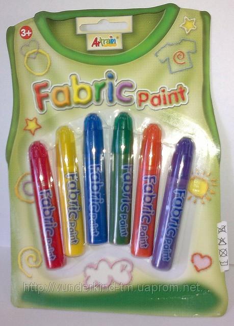 Краски по ткани 6 шт.на блистере