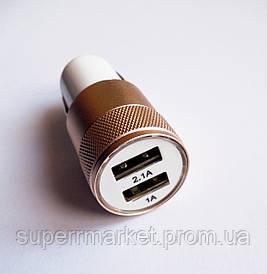Автомобильный адаптер питания USBх2 в виде пули