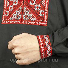 Вышиванка мужская с красно-белой вышивкой, фото 2
