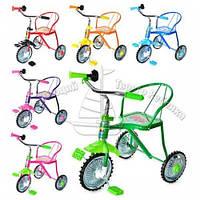 Товар Велосипед LH-701-2.,3 колеса, хром, 6 цветов: красн, желт.,зел.,темн-син., голуб., роз.,клаксон, высота