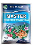 """Минеральное Удобрение Master(Мастер) купить NPK 21.12.21 """"Для комнатных растений"""" ТМ """"Valagro"""" 25г"""