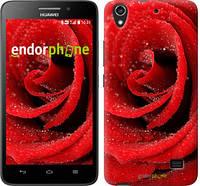 """Чехол на Huawei Honor 4 Play Красная роза """"529u-213"""""""