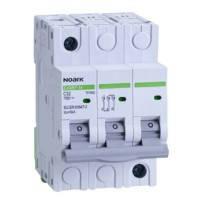 Автоматический выключатель Noark, Чехия,  Ex9BN 6kA (3Р С10)  (3 -х полюсный C10А)