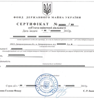 Сертификат оценщика субъекта оценочной деятельности
