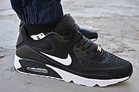 Мужские кроссовки Nike Air Max 90 black найк аир макс черные