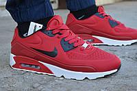 Мужские кроссовки Nike Air Max 90 Red найк аир макс красные