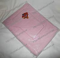 Детское полотенце с капюшоном + рукавичка. 100% хлопок (махра)