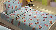 Качественное детское постельное бельё 100х150см BOBI ГОЛУБОЙ LT14