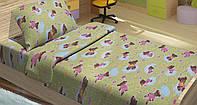 Качественное детское постельное бельё 100х150см BOBI ЗЕЛЕНЫЙ LT14