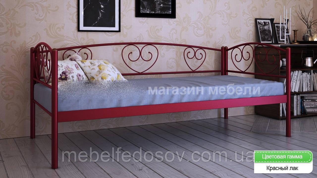 Кровать металлическая  Дарина Люкс / Darina LUX односпальная 80 (Метакам) 850х2080х770 мм