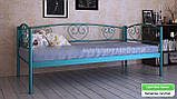 Кровать металлическая  Дарина Люкс / Darina LUX односпальная 80 (Метакам) 850х2080х770 мм , фото 2
