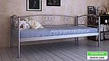 Кровать металлическая  Дарина Люкс / Darina LUX односпальная 80 (Метакам) 850х2080х770 мм , фото 3
