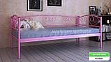 Кровать металлическая  Дарина Люкс / Darina LUX односпальная 80 (Метакам) 850х2080х770 мм , фото 4