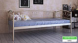 Кровать металлическая  Дарина Люкс / Darina LUX односпальная 80 (Метакам) 850х2080х770 мм , фото 5