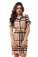 """Женское красивое платье """"Барбери"""" (2 цвета)"""